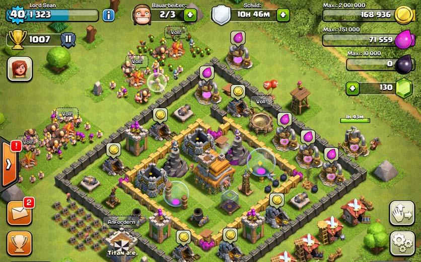 Screenshot des Games: Clash of Clans