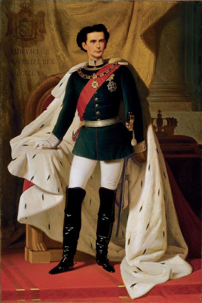Ludwig II. im Alter von 20 Jahren. Gemälde von Ferdinand von Piloty, 1865