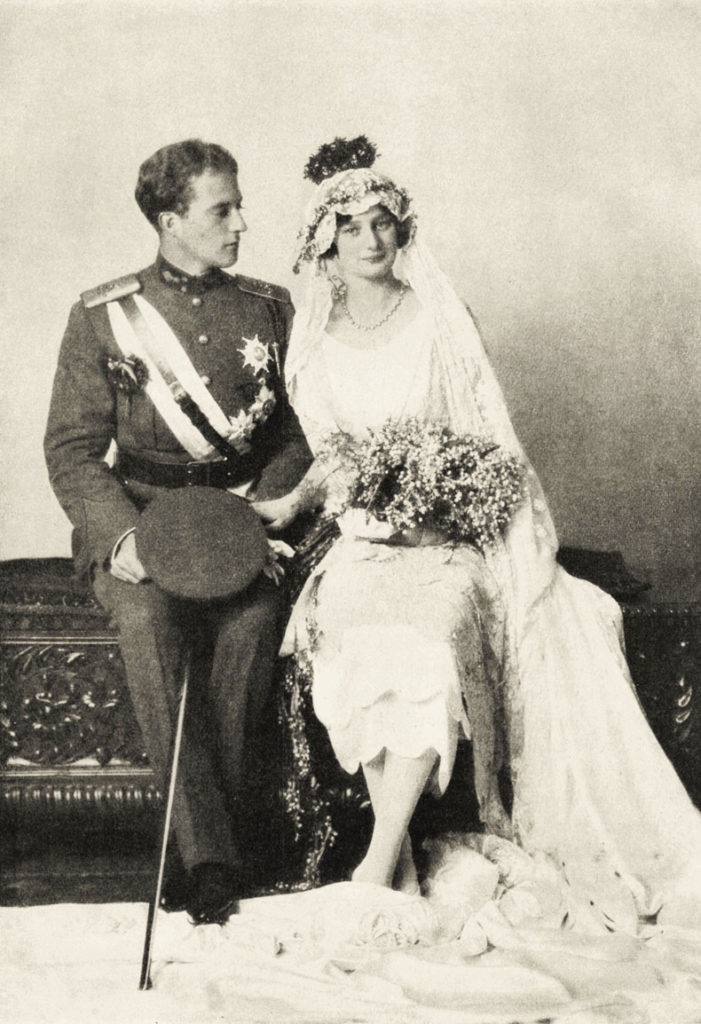 Königin Astrid von Belgien mit König Leopold von Belgien
