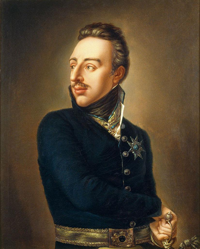 Gustav IV. Adolf, Gemälde von Per Krafft d. J., 1809