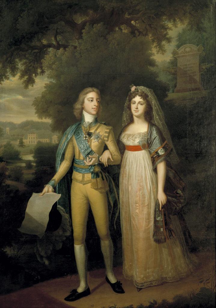 Gustav IV Adolf von Schweden(1778-1837) mit Gattin Friederike (1781-1826)