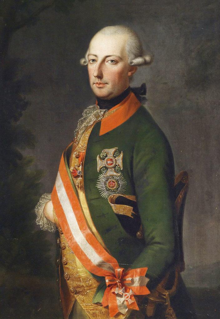 Kaiser Joseph II., Porträt in Uniform des Chevaux-Leger-Regiments Nr. 1 mit Ordensschmuck