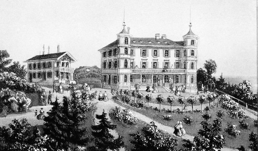 Pension Wallis auf dem Gütsch in Luzern