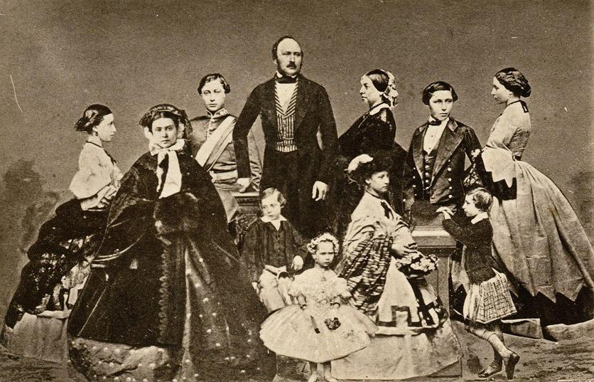 Prinz Albert und Queen Victoria mit ihren Kindern
