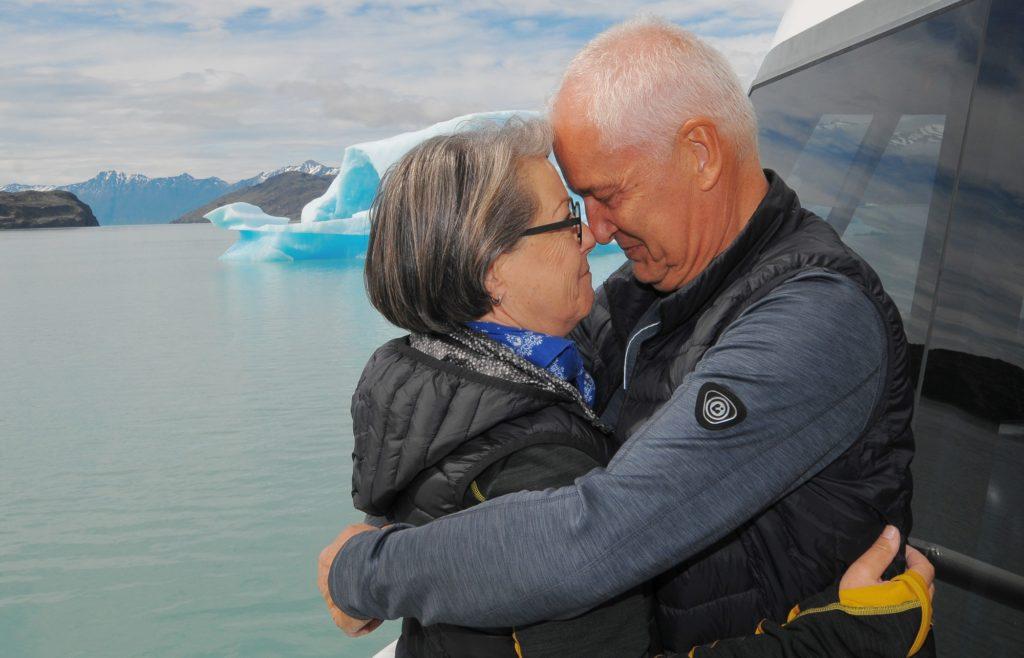 Ursula Bürgi und Ueli Friedländer auf ihrer Reise durch Patagonien und in die Antarktis.