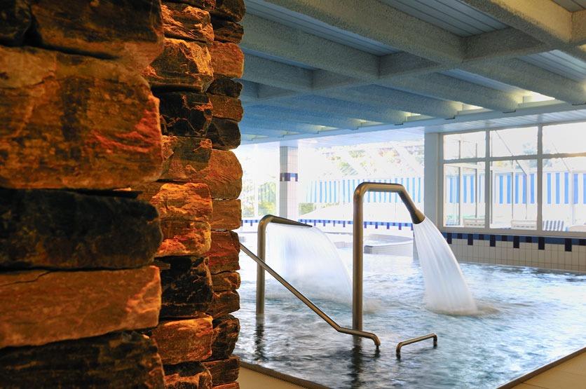 Solbad im Hotel Valaisia in Crans Montana.