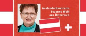 Auslandschweizerin Suzanne Wolf aus Österreich