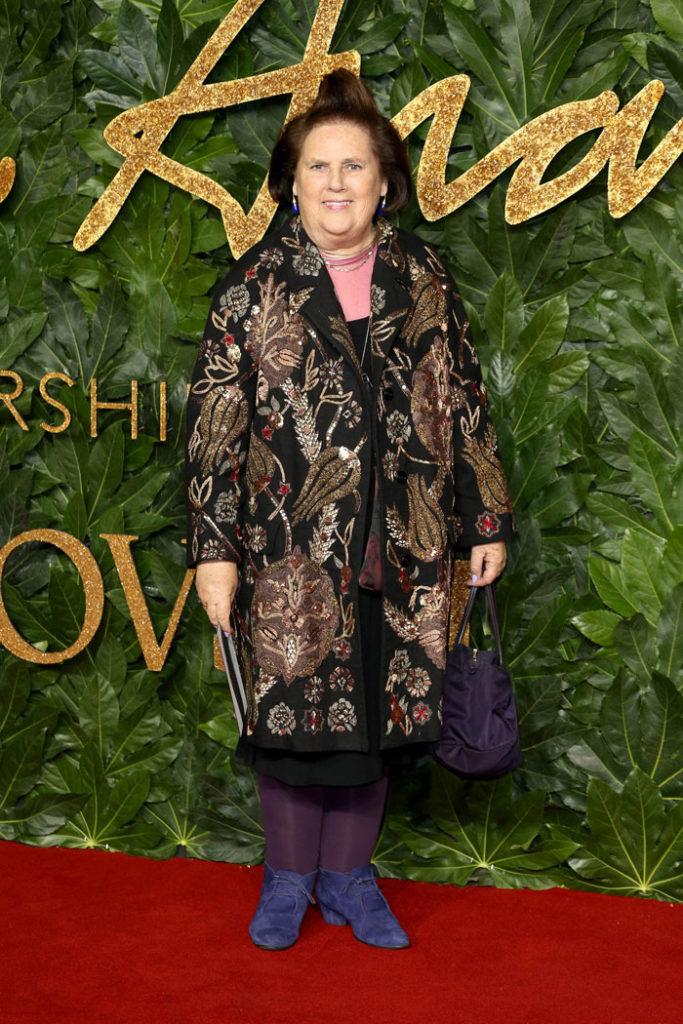 Suzy Menkes bei den Fashion Awards in der Royal Albert Hall in London, UK.