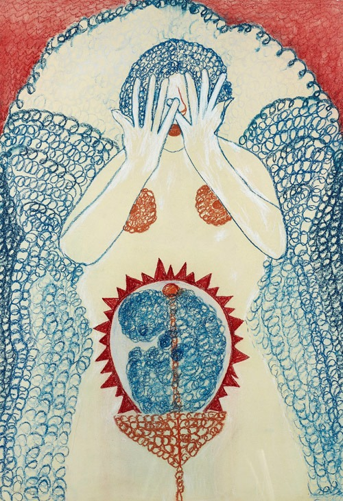"Maria Rolly (*1925), ""Mütter-Zyklus, Nr. 2"", 1988-1991."