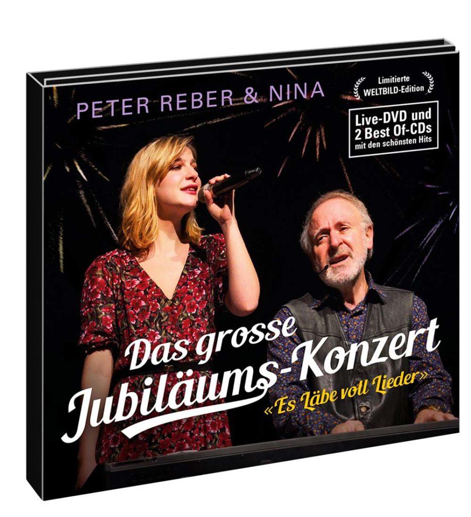 3D-Ansicht der neuen CD- und DVD-Box von Peter Reber und seiner Tochter Nina.