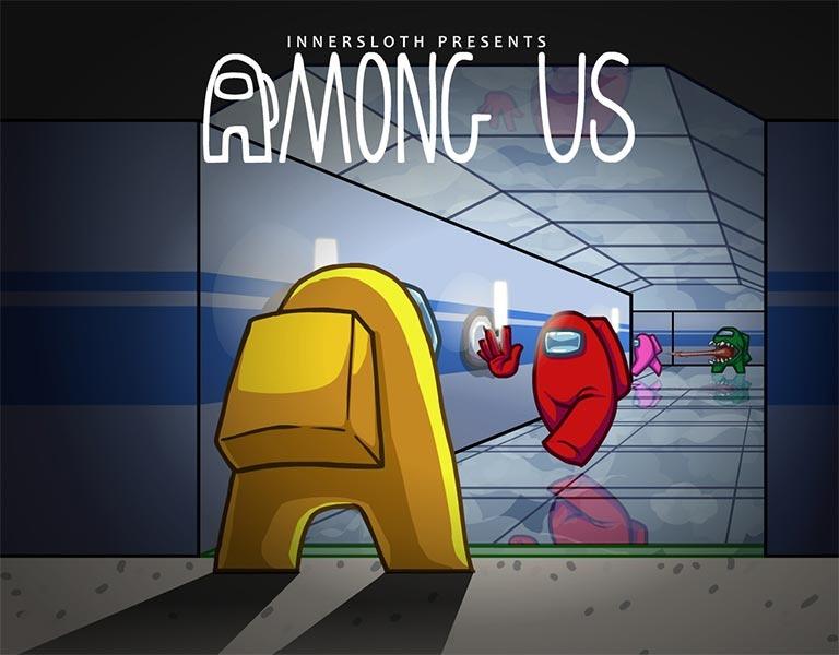 "Screenshot aus dem Computerspiel ""Among us"""