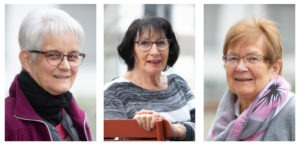 Eliane Gachet (74), Margrit Semling (77) und Vreni Keller (78) haben vor zwei Jahren je eine Wohnung im neuen GeWo Burgdorf bezogen