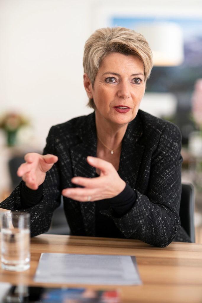 Bundesraetin Karin Keller-Sutter im Interview