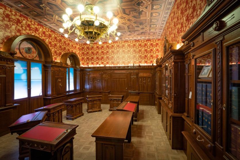 Ausstellung Landesmuseum. Bundesratszimmer in 60 Prozent der Originalgrösse.