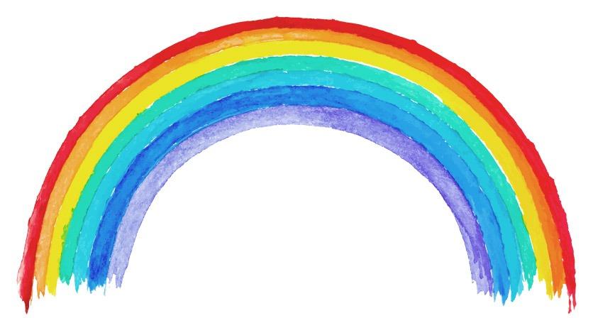 handgemalter Regenbogen