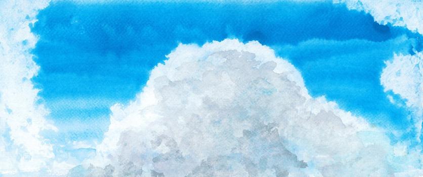 Handgezeichnete Cumulus Wolke